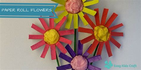 Toilet Paper Roll Flowers Craft - how to make toilet paper roll flowers
