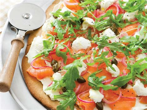 Gluten free quinoa pizza with smoked salmon   Saga