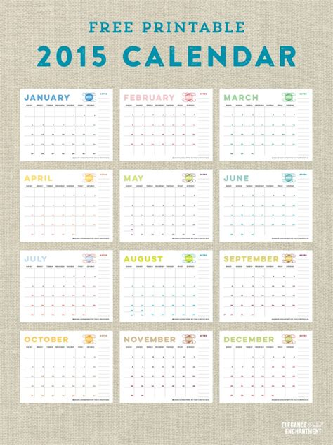 dirtbin designs free printable 2015 year planner by free printable calendars for 2015 paper crush