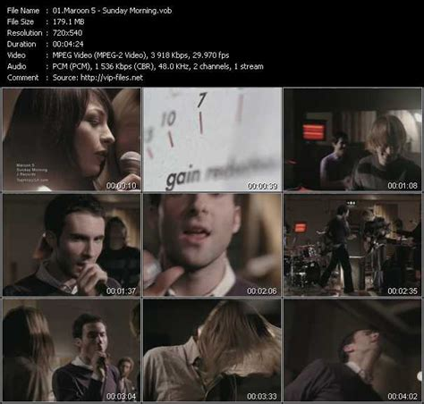 maroon 5 1990s songs maroon 5 sunday morning download hq music video vob of
