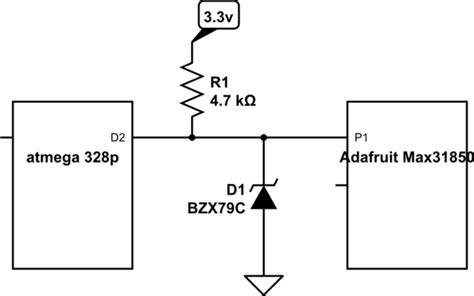 testing protection diodes level shifting 5v to 3 3v can i just use a zener diode electrical engineering stack exchange