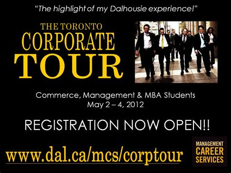 Dalhousie Mba Financial Services by 2012 Toronto Corporate Tour