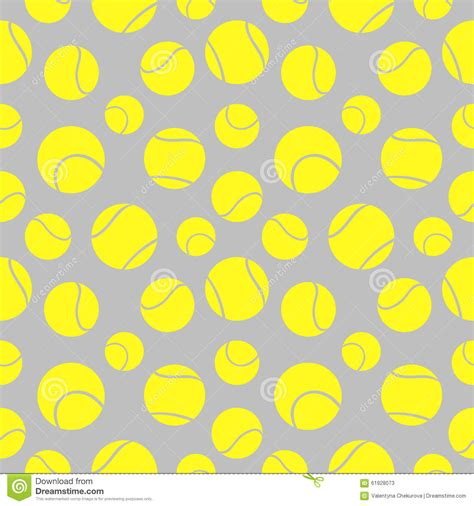 pattern over background vector seamless pattern with elements of yellow tennis