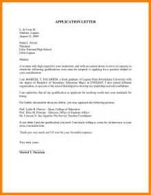 Covering Letter For Application Exles 6 application letter sle for fresh graduate joblettered