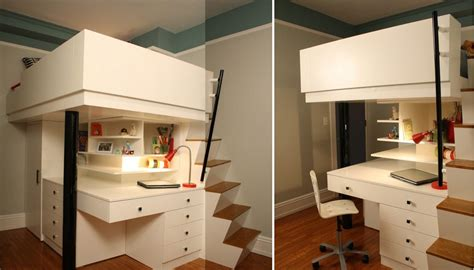 Woodworking Plans Kitchen Island by Mixing Work With Pleasure Loft Beds With Desks Underneath