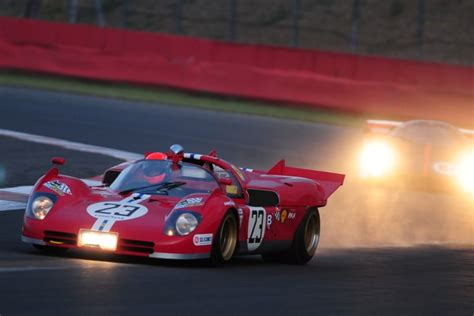 ferrari classic race car silverstone classic 2010 features italian race cars at dusk