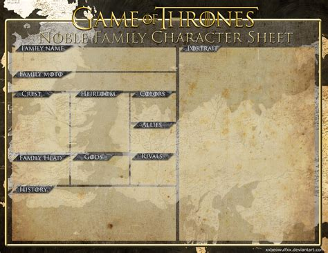 noble houses of westeros noble house of westeros sheet by xxbeowulfxx on deviantart