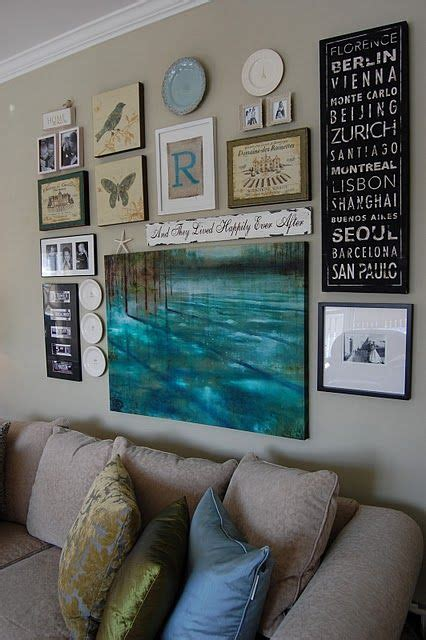 gallery wall inspiration like the idea of a gallery wall with quotes paintings and photographs all the things that me