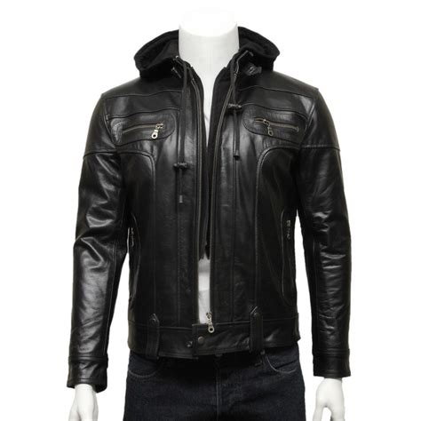 hooded motorcycle jacket mens hooded leather bomber jacket jackets review