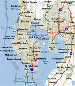 st florida map map of st petersburg fl map travel