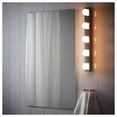 Ikea Bathroom Wall Lights Ledsj 214 Led Wall L Stainless Steel 60 Cm Ikea