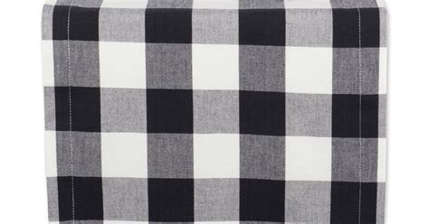 black and white plaid runner reviews by texicanwife dii 100 cotton black and white
