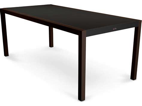outdoor rectangular dining table polywood 174 mod aluminum rectangular patio dining table 8320