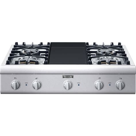 36 Thermador Gas Cooktop pcg364gd thermador professional 36 quot gas rangetop 4 burners griddle