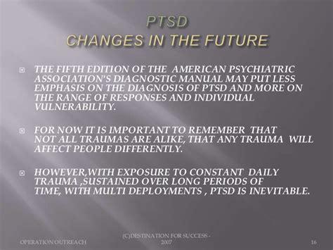 ptsd service manual ptsd presentation
