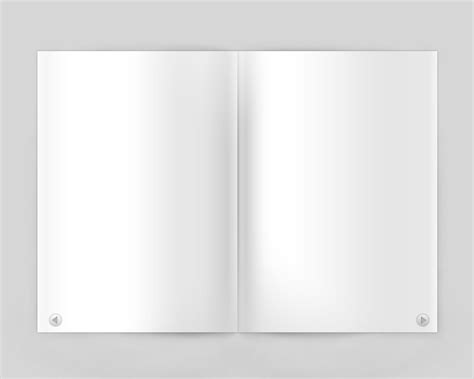 open book template for card open blank magazine psd