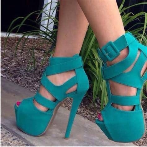 turquoise high heels shoes heels high heels platform shoes turquoise shoes high