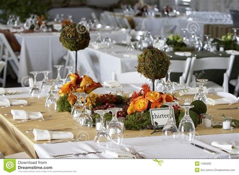 wedding dinner table setting dining table set for a wedding or corporate event stock