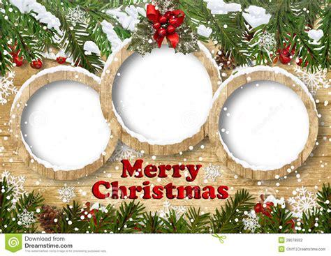 christmas background  frame  fir twig stock photo image