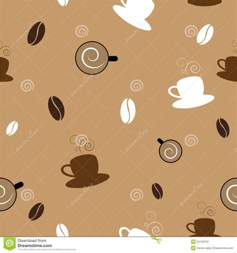 seamless pattern coffee coffee seamless pattern stock photos image 25745763