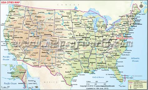 printable us map with cities and towns usa cities map us map with cities just lil things i