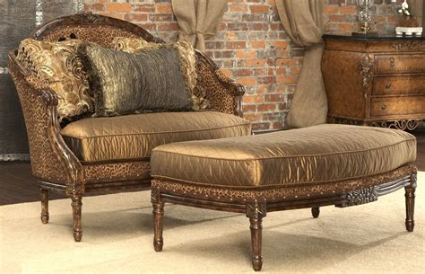 home decore furniture leopard print settee luxury fine home furnishings and