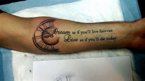 live forever tattoo designs as if you will live forever live as if you will die