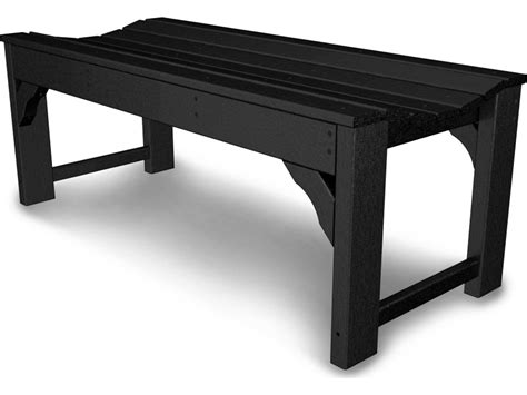 side bench polywood 174 traditional 48 garden side bench bab148