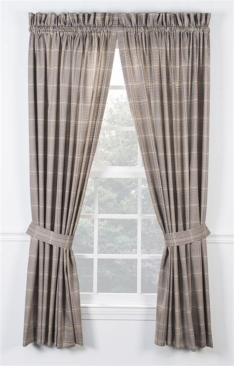 curtain tie morrison tailored curtain with ties rod pocket curtains