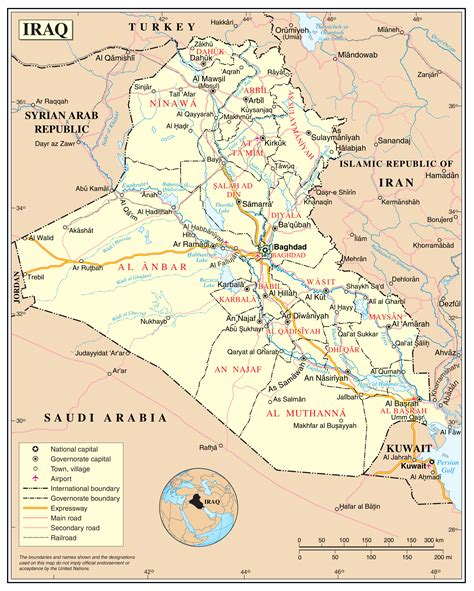 maps of iraq detailed map of iraq in tourist