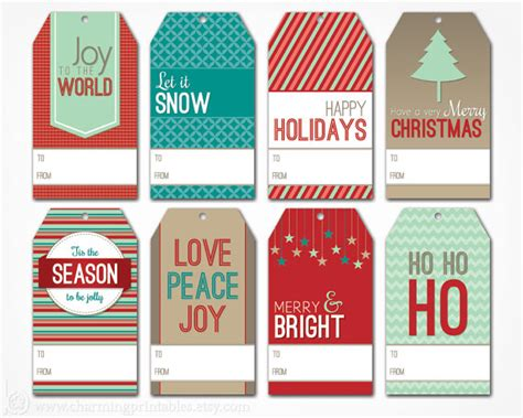 Holiday Gift Labels Templates gift label templates happy holidays
