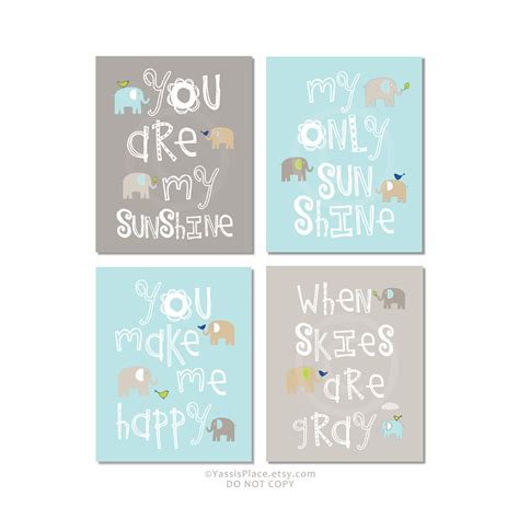 You Are Wall Decor by You Are Wall Gray Aqua Nursery