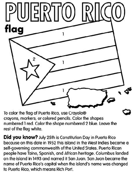flag coloring pages crayola puerto rico crayola com au