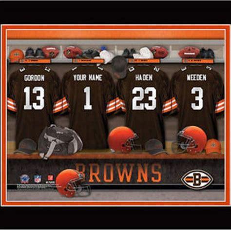 cleveland browns locker room football nfl locker room print nfl from custom fandoms day