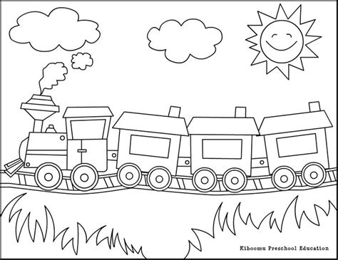 train coloring page trains planes cars pinterest worksheets  kindergarten pictures