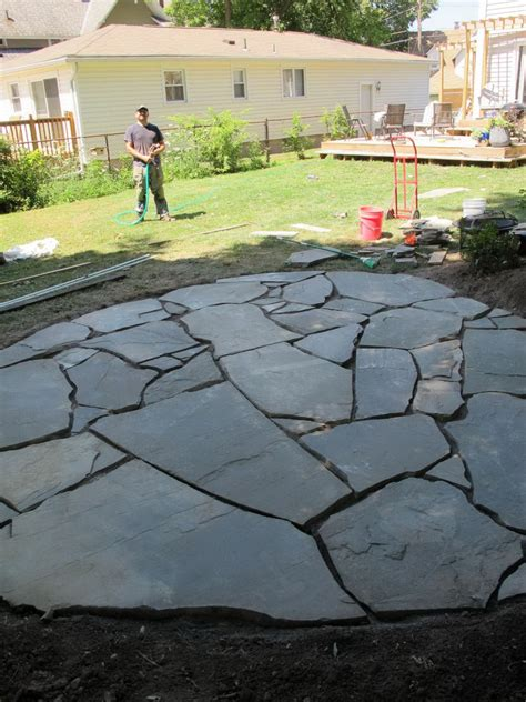cost to install flagstone patio home design ideas and