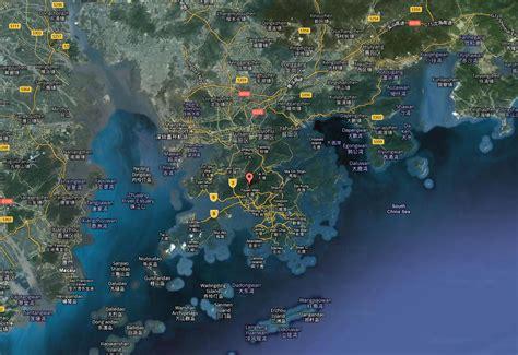 hong kong carte  image satellite