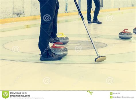 Curling Game Sport Royalty Free Cartoon Cartoondealer | curling game sport royalty free cartoon cartoondealer