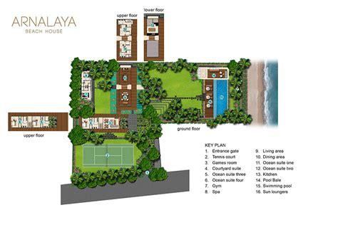 Beach House Floor Plan floorplan arnalaya beach house canggu 5 bedroom villa