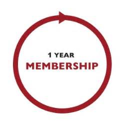 1 Year Membership renewals