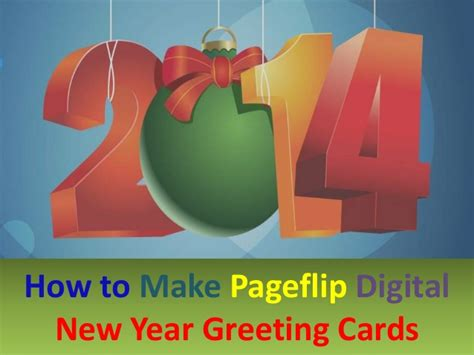 how to make new year greeting cards 3 steps to make pageflip digital new year greeting cards