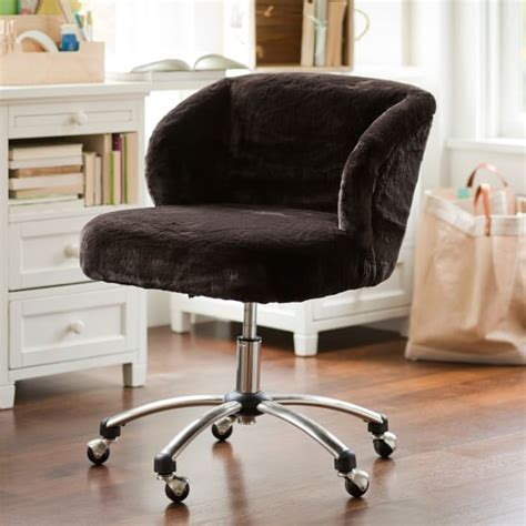 fur wingback desk chair luxe faux fur wingback desk chair pbteen
