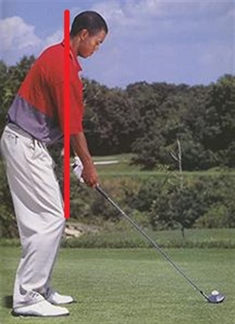 straight right leg in golf swing tiger woods posture learn to swing a golf club