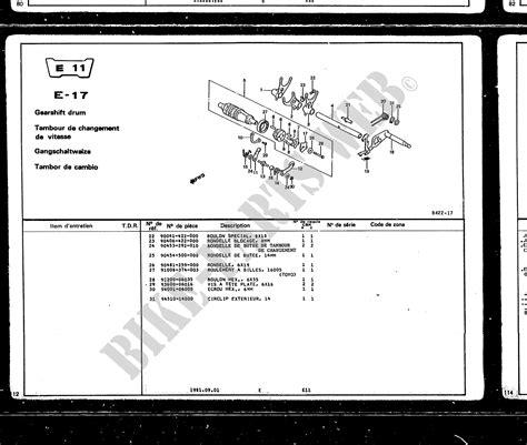 Honda Motorrad Teilenummer Katalog by Honda Motorr 196 Der Original Ersatzteilkatalog