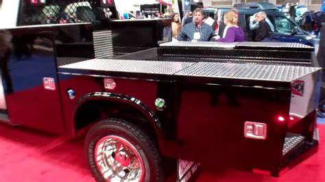 custom utility truck beds new knapheide 9 gooseneck flatbed truck body that acts