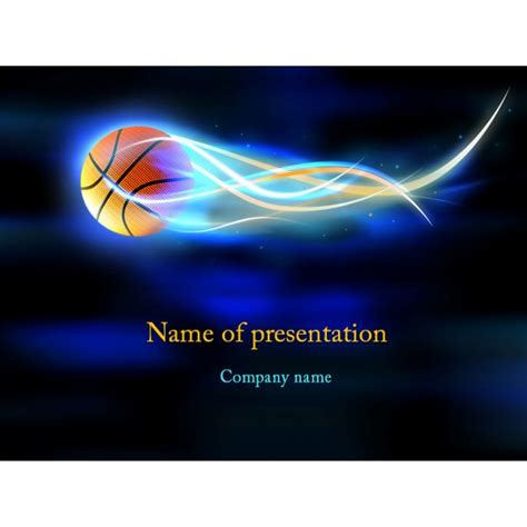basketball ball powerpoint template background for