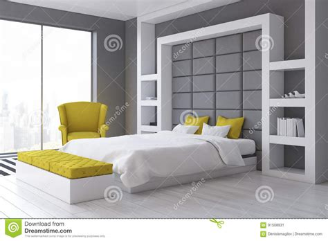 da letto grigia da letto grigia della parete lato with da
