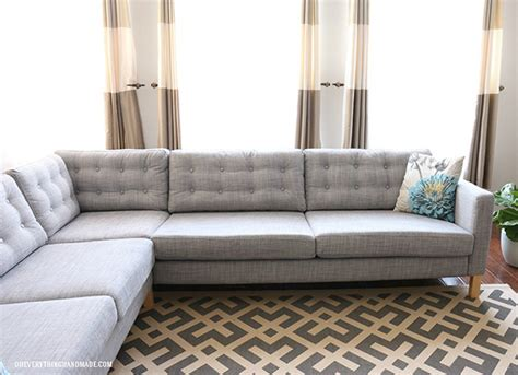 Diy Sofa by Upgrade A Boring Sofa With Diy Tufting Diy