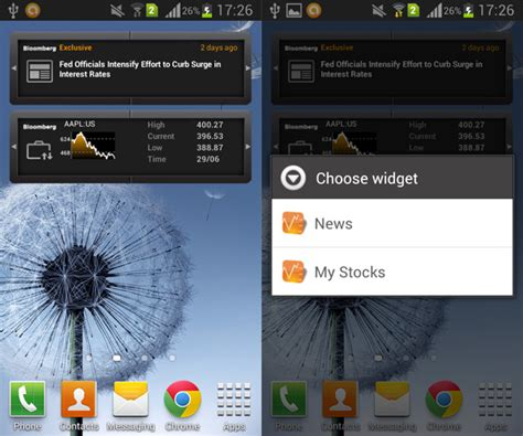 news widgets for android bloomberg for android widget reveiw aw center