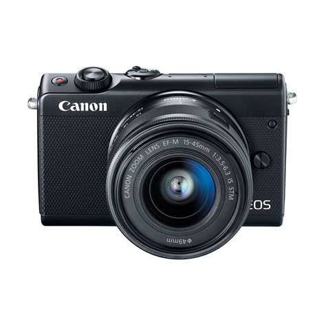 Canon Eos M100 Mirrorless Kit 15 45mm Is Stm jual kamis ganteng canon eos m100 kit 15 45mm kamera